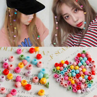 100 PCS Mini Hair Claw Clips For Women Girls Cute Candy Colors Beads Headwea Uw