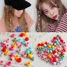 100 PCS Mini Hair Claw Clips For Women Girls Cute Candy Colors Beads Headwear *