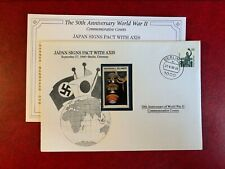 DANBURY FDC WW2 GERMANY BRD 1990 MARSHALL ISLANDS JAPAN SIGNS PACT WITH AXIS