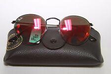 Ray-Ban Round Flash Mirror Orange Lens Sunglasses RB3447 002/4W 50-21 $175 NWT