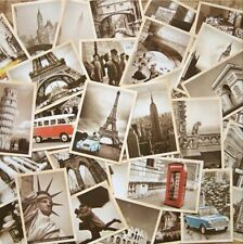 Lot of 32Pcs Vintage Retro Old Travel Postcards Card Posters art deco Buildings
