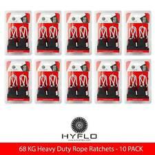 2 Pairs HYFLO 68kg Adjustable Rope Ratchet Heavy Duty Grow Light Hanger Metal Ge