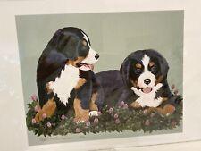 New ListingBernese Mountain Dog Puppy Pair 11x14 Ltd Ed Print By Van Loan