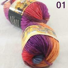 Sale Lot of 2 Skeins New Knitting Yarn Chunky Colorful Hand Wool Wrap Scarves 01