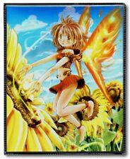 MAX PROTECTION FLOWER ANGEL 4 POCKET PORTFOLIO/BINDER (HOLDS 80 CARDS)