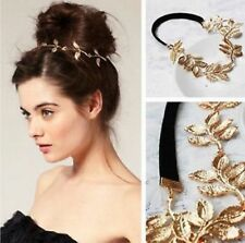 Women Fashion Golden Leaf Head Chain Jewelry Headband Head Piece Hair band