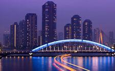 "TOKYO SKYLINE A4 POSTER GLOSS PRINT LAMINATED 11.7"" x 7.3"""