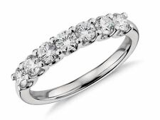 SALE!! WEDDING ENGAGEMENT RING Scalloped Pave Diamond Ring in 14K WHITE GOLD