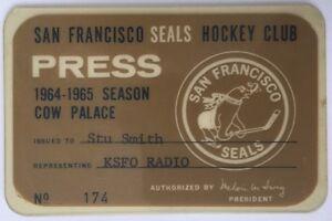 1964-65 San Francisco Seals Press Pass Stu Smith KSFO