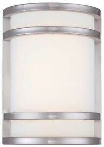 Minka Lavery 9801-144-L Bay View 1-Light LED Wall Sconce Brushed Stainless Steel
