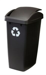 Rubbermaid 2692-RE-CSHM Black Recycling Trash Can 12.5 gal. Capacity (Pack of 6)