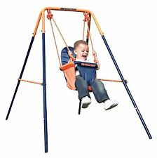 Hedstrom M08651 Folding Toddler Swing Easy Clean Fabric Seat Steel Frame