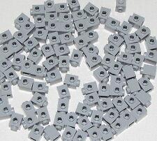 Lego Lot of 100 New Light Bluish Gray Bricks Modified 1 x 1 w/ Stud on 1 Side