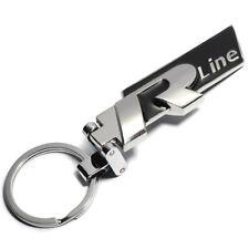 Metal R Line Badge Emblem Key Fob Ring Chain Rline Keychain for Golf Polo Jetta