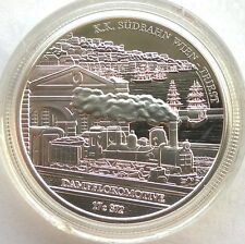 Austria 2007 K.K. SÜDBAHN WIEN 20 Euro Silver Coin,Proof