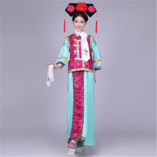 Qing Dynasty Ancient Costume Cos Sets Adult Chinese Palace Dress With Headwear