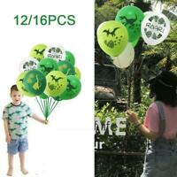 12/16PCS Dinosaur Theme Party Balloons Tie Tool Set birthday Baby Shower Decor