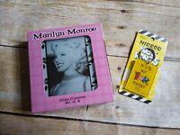 Rare Marilyn Monroe Glass coaster set NEW in box with BONUS GIFT mirror keychain