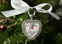 Robins Appear When Loved Ones Small Christmas Tree Charm Heart Bauble Gift