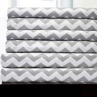6 Piece Chevron Bedroom Sheet Set 1500 Thread Count Egyptian Comfort