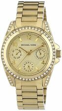 NEW Michael Kors MK5659 Women's Runway Gold Dial Tortoise Enamel Link Watch hot
