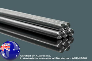 Titanium Solid Round Rod Bar - Quality Certified In Australia, To Int Standards