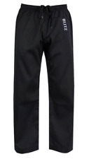 Blitz Adult Student Martial Arts Trousers - 7oz   Black  Karate 190cm