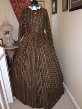 Civil War Reenactment Day Dress Size 14 Dark Green