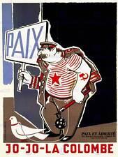 La propagande caricature anti communiste staline france fine art print poster CC1668
