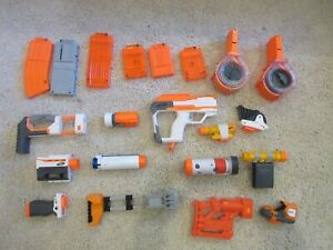 Lot of Nerf Gun Add Ons Attachments