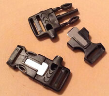 Qty 5 - Whistle Buckle w/ Flint Fire Starter for Paracord Bracelet and Survival