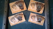 """""""Epingles de Coiffure"""" anciennes, 4 plaques de 12 epingles de 5 et de 7 cm."""