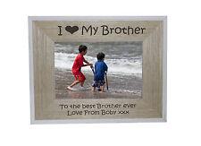 Mi heart-love mio fratello 7 x 5 CORNICE BORDO BIANCO telaio legno-Incisione gratuita