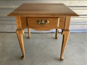 ETHAN ALLEN Heirloom End Side Table With Drawer 10-8035
