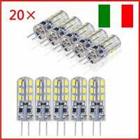 20X LAMPADINA 24 LED 1.5W G4 1.5W DC 12V LUCE FREDDO BIANCO LAMPADA