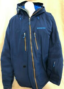 Patagonia Primo Down 800-Fill Gore-Tex Ski Snowboard Jacket Men's L/XL Blue VGUC