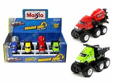 MAISTO FRESH METAL BUILDER ZONE QUARRY MONSTERS MIXER & DUMP TRUCK Set Of 4 Car