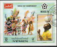 Fussball Pele Yemen gestempelt  914
