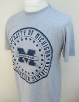 Men's American Freshman Michigan Short Sleeve T-Shirt Top Tee Cotton S M L