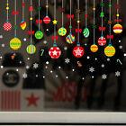 Christmas Window Clings Glass Stickers Wall Decals Xmas Home Decor Self-adhesive