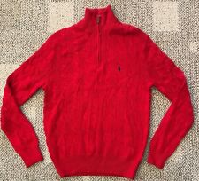 Polo Ralph Lauren Men's 1/2 Zip Cotton Cable Knit Sweater Size XS ( Teen Boys )