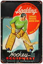 1940 Spalding Hockey Equipment Vintage reproduction metal sign 8 x 12