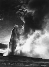 """Ansel Adams Photo """"Old Faithful, Yellowstone"""" 3rd version, National Archives"""