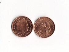 World Foreign Coins*BAILIWICK of JERSEY* 2 pence 1998 *BRONZE* Lot  F16 * UNC *