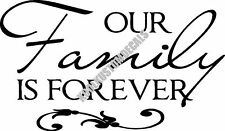 Our Family Is Forever Interior Home Vinyl Decal R012