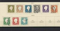 ICELAND 1911 MOUNTED MINT & USED STAMPS  REF 5782