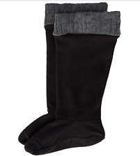 NIB Chooka Waterproof RainBoot Sock Fleece Liner CHARCOAL CABLEKNIT S/M 6 7 8