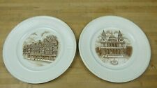 "12 Original Wedgewood ""Old London Views� Porcelain Plates From 1941 Beautiful!"