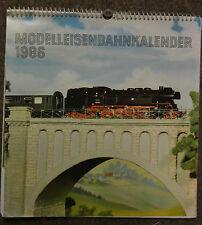 Modelo ferroviario calendario 1986 RDA