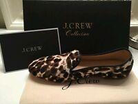 Flats moccasins J.Crew Calf Hair Loafers/Animal Print Sz 6